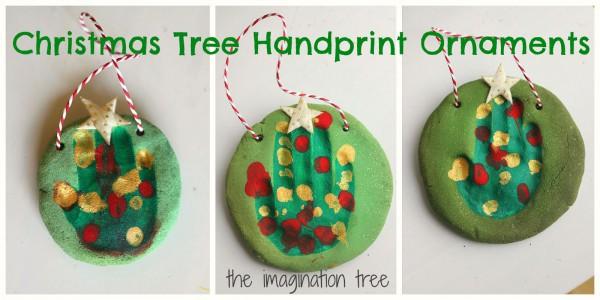 Weihnachtlicher Schmuck aus Salzteig ©theimaginationtree.com