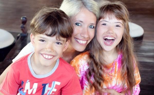 Conny Wenk mit ihren Kindern Nicolas und Juliana ©  Conny Wenk