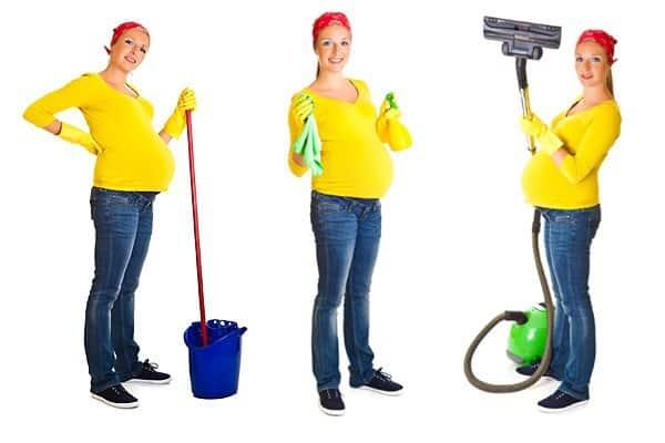 Putzen in der Schwangerschaft - nur kein Stress (© Thinkstock)