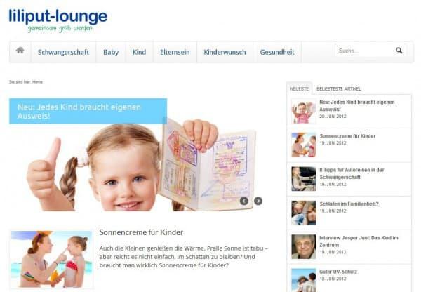 liliput lounge in übersichtlichem Design nach dem Relaunch