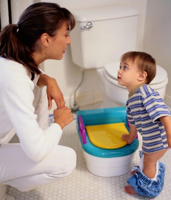 Toilettentraining Mama & Sohn
