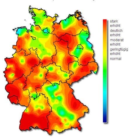 Aktivität der Influenza in Deutschland, KW5 2013(© RKI)