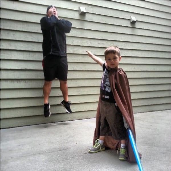 Internet-Trend Vadering - lustige Fotos mit Kindern Vadering