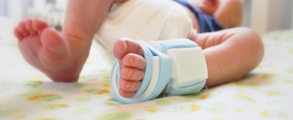 Kluge Socke für Babys Gesundheit