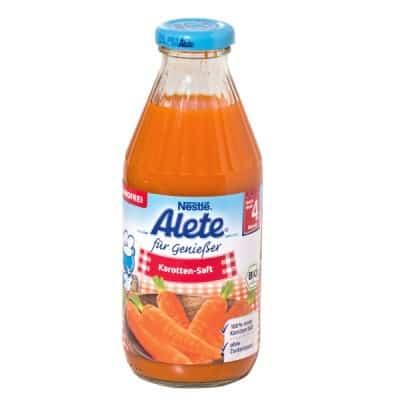 Karotten-Saft von Alete fällt bei Öko-Test durch (© ÖKO-TEST)