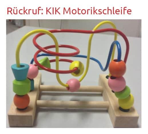 Rückruf der Motorikschleife (© KiK Textilien und Non-Food GmbH)