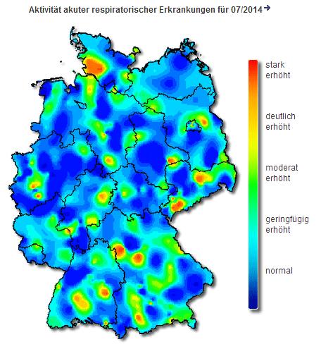 Grippewelle in Europa im Anmarsch (© Robert Koch Institut)
