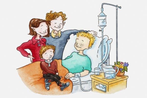 Krankenbesuch beim Kind (© Dorling Kindersley /Thinkstock)