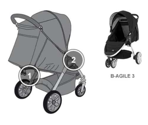 verletzungsgefahr beim britax kinderwagen b agile 3. Black Bedroom Furniture Sets. Home Design Ideas