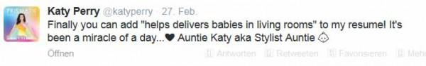 Katy Perry via Twitter (© Twitter/katyperry)