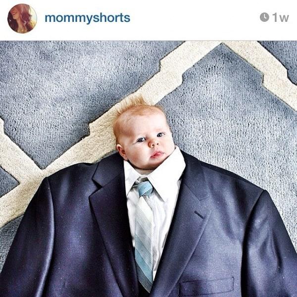 Babys als Schlipsträger - die neue Fotoaktion © mommyshorts/Instagramm