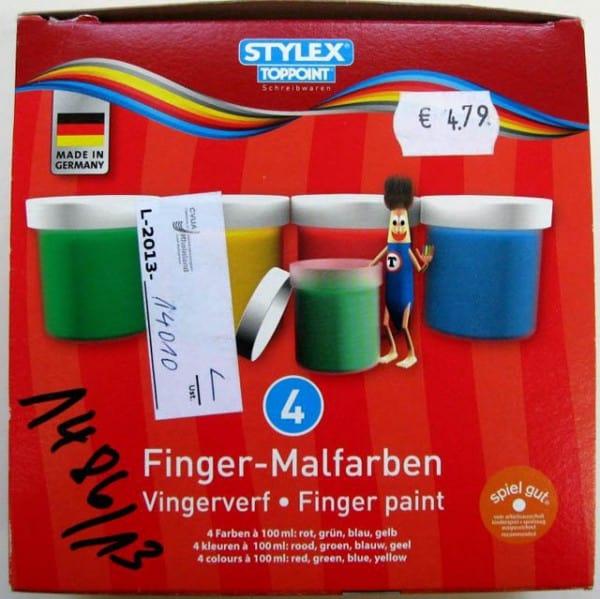 Rückruf Fingermalfarben