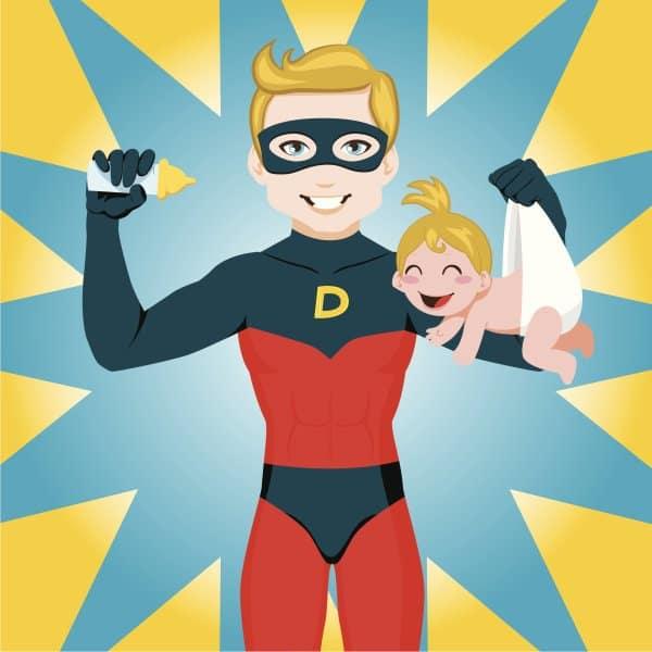 Superdad - ein Superheld an der Seite von Supermoms (© Thinkstock)