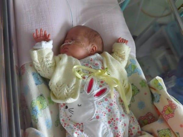 Emily  - elf Wochen nach ihrer Geburt © privat /Emilys Journey