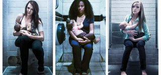 Wenn das Stillen ruft - Plakat-Kampagne für Akzeptanz von öffentlichem Stillen (© Johnathan Wenske and Kris Haro)
