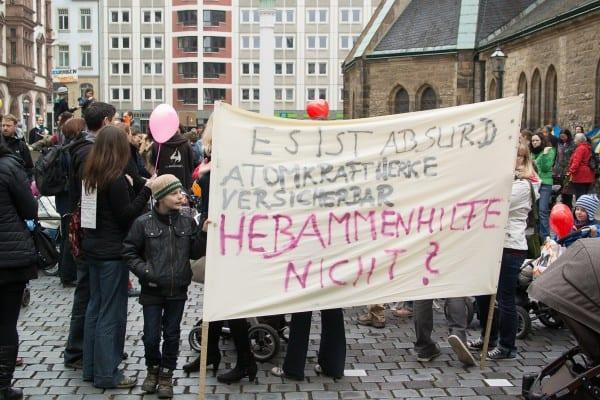 Hebammen-Proteste in Leipzig (© A. Goldmann)