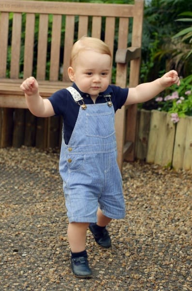 Erste Schritte eines zukünftigen Königs © Duke and Duchess of Cambridge