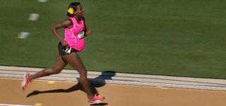Alysia Montano beim 800 Meter Lauf © www.usatf.tv