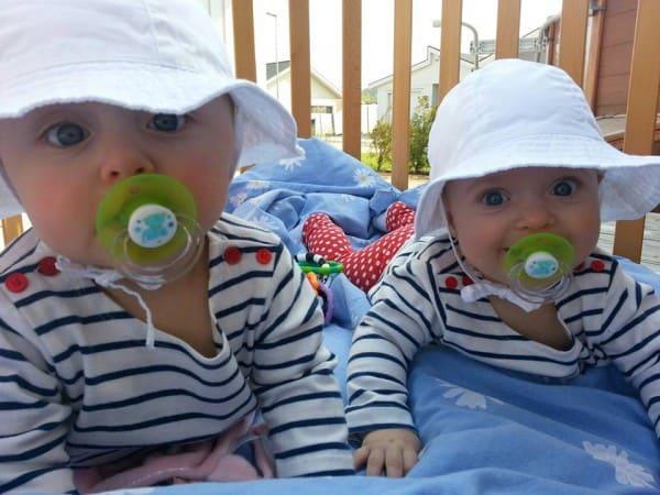 Die Zwillinge Agnes und Elin© Urban Davidsson/Facebook