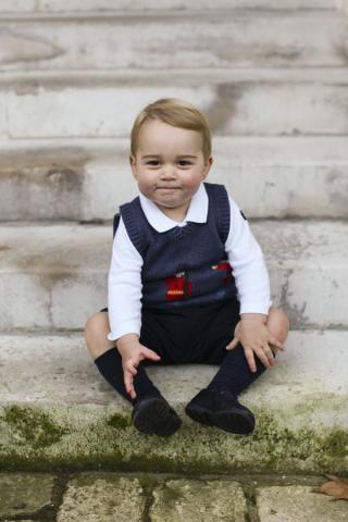 Mit rosigen Pausbacken: Prinz George © The Duke and Duchess of Cambridge