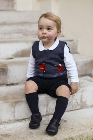 Ob er schon gespannt auf den Weihnachtsmann ist?  © The Duke and Duchess of Cambridge