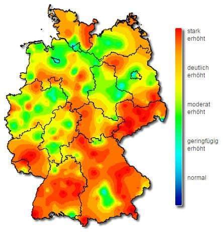 Aktivität der Influenza in Deutschland, KW7 2015 (© RKI)