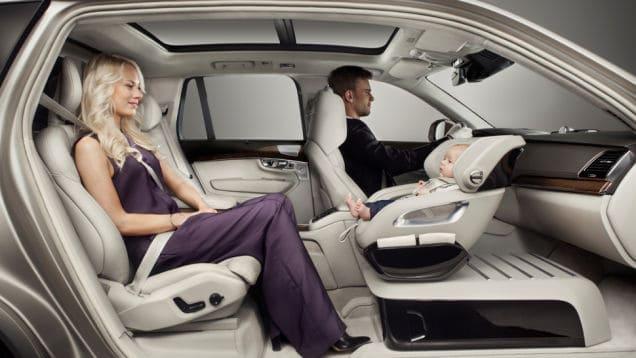 Volvo entwickelt neuen Kindersitz mit Blickkontakt (Bild © Volvo)