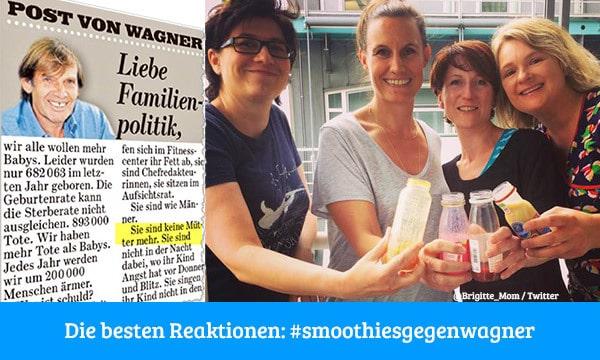 Reaktionen auf Franz Josef Wagners BILD-Kolumne zur Familienpolitik (Collage: © BILD/Brigitte MOM / Twitter)