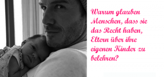 David Beckham über Kritik an Schnuller für Tochter Harper