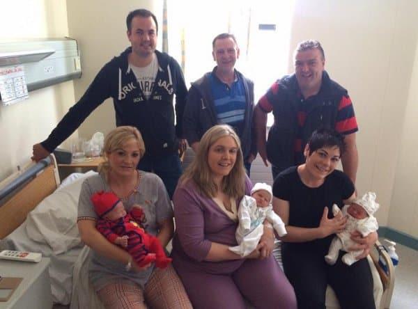Schwestern aus Irland bekommen am gleichen Tag Babys