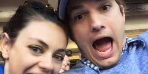 Mila Kunis und Ashton Kutcher mögen Scherze , aber ungern Fotos ihrer Tochter zeigen... (c) Ashton Kutcher/Facebook