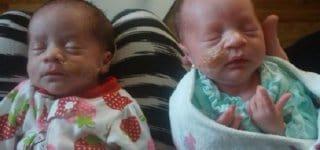 Darla und Dalanie - das dritte Zwillingspaar (c) Danesha Couch/gofundme
