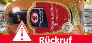 Rückruf Teewurst © Rügenwalder