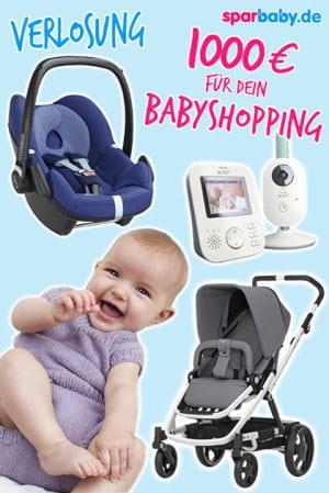 Gewinne 1000€ für deinen Wunschkindersitz und Babyausstattung im Gesamtwert von 1000€ - mach gleich hier mit!