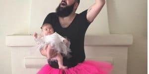Wenn der Vater mit der Tochter gern Bilder inszeniert ©Instagram/ sbsolly/