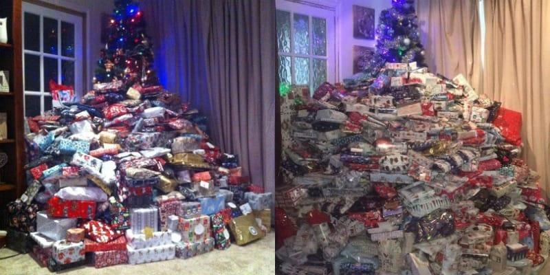 geschenkefieber mutter macht ihren drei kindern hunderte weihnachtsgeschenke. Black Bedroom Furniture Sets. Home Design Ideas