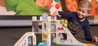 Kullerbü – Spielbahn Parkhaus von Haba gewinnt Toy Award, Foto: Alex Schelbert / Spielwarenmesse eG