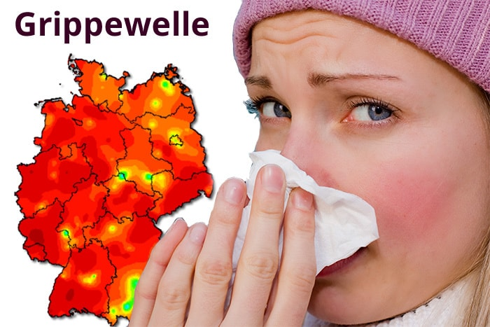 Grippewelle 2018 in Deutschland (Collage: ©Lilliput-Lounge, Getty Images, RKI)