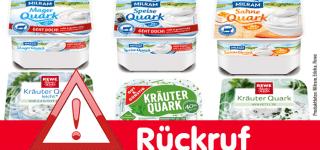 Rückruf Quark von Milram, Rewe, Penny, Edeka, gut & günstig und weiteren