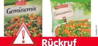 """Der belgische Hersteller Greenyard Frozen Belgium N.V. ruft im Sinne des vorbeugenden Verbraucherschutzes aktuell die Produkte """"Freshona Gemüsemix"""" und """"Green Grocer's Gemüsemix"""" 1000g"""" unabhängig vom Mindesthaltbarkeitsdatum zurück. Wie das Unternehmen mitteilt, kann nicht ausgeschlossen werden, dass das Tiefkühl-Produkt mit Listerien (Listeria monocytogenes) kontaminiert ist. (Bild: LIDL)"""