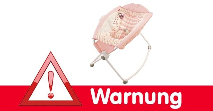 Warnung vor Fisher Price Babywiege: Lebensgefahr für Babys
